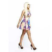 Nicki Minaj Women's Keyhole Dress - Galaxy