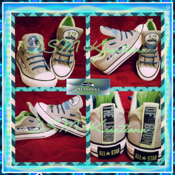 Seattle Seahawks Custom Converse
