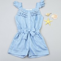 Kids Girls Clothing Rompers Denim Blue Cotton Washed Jeans Sleeveless Bow Jumpsuit 0 5Y X16-in Clothing Sets from Mother & Kids on Aliexpress.com | Alibaba Group