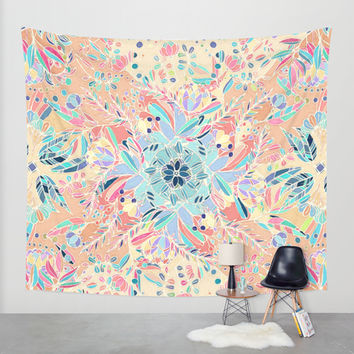 Paradise Doodle Wall Tapestry by Micklyn