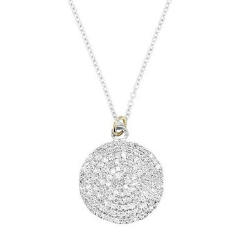 Once in a Blue Moon White Diamond Necklace