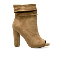 Classy And Sassy Bootie - Taupe