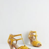 Vintage Inspired Quiz Show Heel in Sunshine by Seychelles from ModCloth