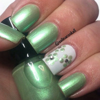 Mint Mojito - Metallic Soft Green Handmade Nail Polish