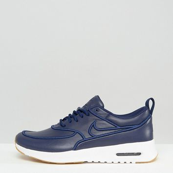 Nike - Air Max Thea Ultra Premium - Baskets - Bleu marine at asos.com