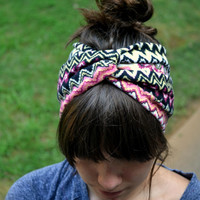 Colorful Chevron Turban Headband