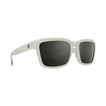 Spy - Helm 2 Matte White Sunglasses / Happy Gray Green Silver Spectra Lenses