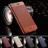 Luxury Genuine Leather Case for iPhone 6 Plus 5.5 inches with Stand and Card Slot