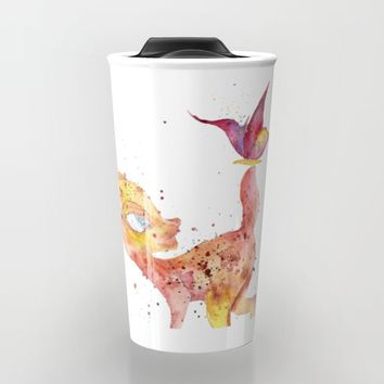 Bambi Meets Butterfly Travel Mug by Salome
