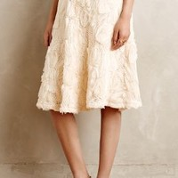 Tufted Blossom Midi Skirt by HD in Paris Cream