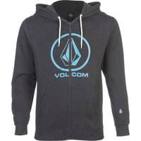 Volcom Single Full-Zip Hoodie - Men's Heather
