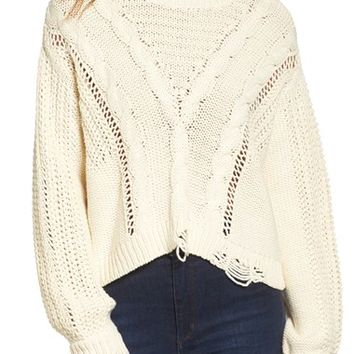 Wildfox Deconstructed Sweater | Nordstrom