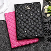 Unique Design Crown Leather Case for iPad