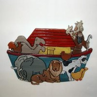 Noah's Ark, Child's Wall Hanging made of Sculptured Wood