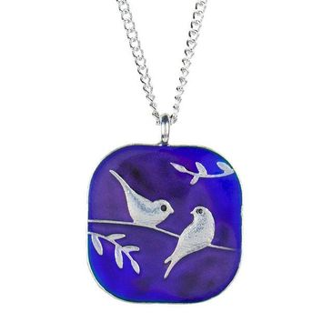 DCCKU3R Birds On A Branch Mood Necklace