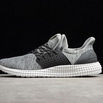 DCCK2 A290 Adidas Athletics Trainer Mesh Breathable Running Shoes Grey Black