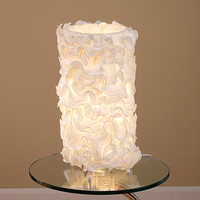 Lace Table Lamp, Cream