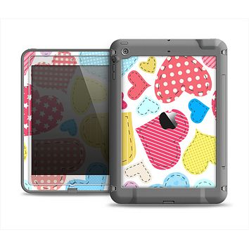 The Fun Colored Heart Patches Apple iPad Air LifeProof Fre Case Skin Set