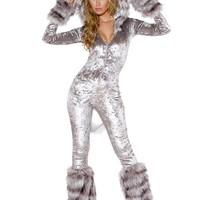 American Werewolf Hooded Catsuit Costume
