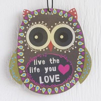 Car  Air  Fresheners:  Live  the  Life  You  Love  Owl  Air  Freshener  From  Natural  Life