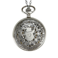 Disney Alice In Wonderland No Time To Say Hello Pocket Watch Necklace