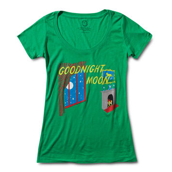 Out of Print Goodnight Moon Women's T Shirt Blue
