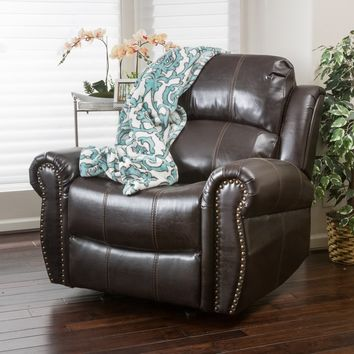 Christopher Knight Home Charlie PU Leather Glider Recliner Club Chair | Overstock.com Shopping - The Best Deals on Recliners