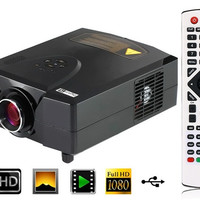 CL312D HD LED Projector Home Theater Game TV PC with DVB-T, Dual HDMI & Dual USB (Black)