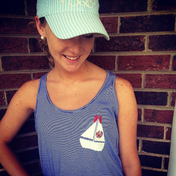 Sail Away Monogram Tank