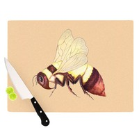 "Catherine Holcombe ""Bee Happy Beige"" Cutting Board"