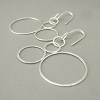 Three Bubbles Sterling Silver Circle Earrings | The Silver Forge Handcrafted Jewellery