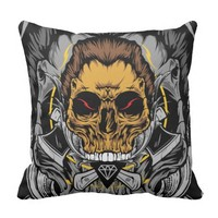 Skull Of The AX Throw Pillow