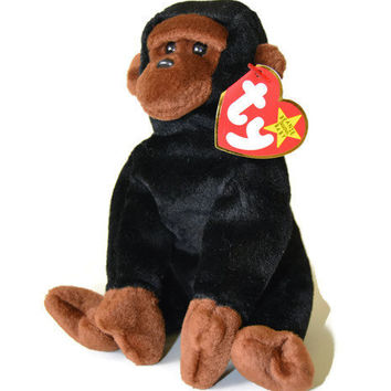 Free US Shipping, Ty Beanie Babies, Congo The Gorilla, Retired NWT, DOB November 9 1996, Vintage Stuffed Toy, Vintage Plush, Collectible