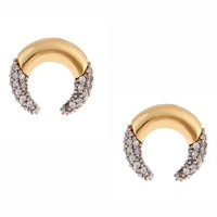 Women's Rachel Zoe 'Sophia' Pave Horseshoe Earrings