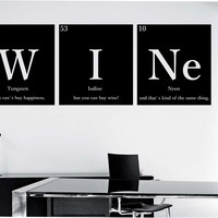 Wine Periodic Table Wall Decal Vinyl Art Home Decor Education Science Motivation