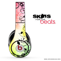 Abstract Black Flowers Skin for the Beats by Dre