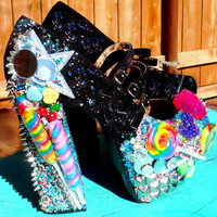 Lollipop Guild Candy Spiked Platform Pump Heels by kaylastojek