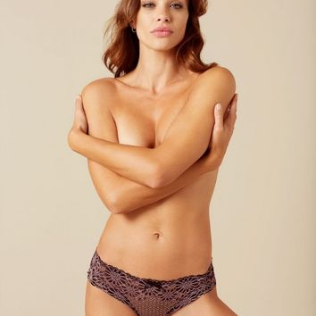 Tyra French Knicker Black And Pink