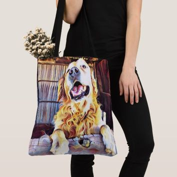 Silly Golden Retriever Photograph Tote Bag