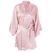 Women's Short Satin Sleepwear Kimono Robe Bridesmaid Bathrobe, Flesh Pink - Walmart.com