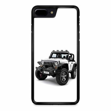 Jeep Wrangler White iPhone 8 Plus Case