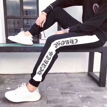 """Chrome Hearts"" Trending Women Men Casual Sport Stretch Pants Trousers Sweatpants"