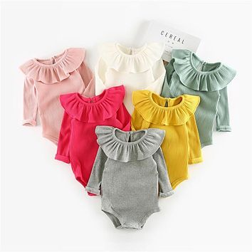 Winter Autumn Baby Girl Knitted Rompers Princess Newborn Baby Clothes Girls Boys Long Sleeve Jumpsuit Kids Baby Outfits Clothes