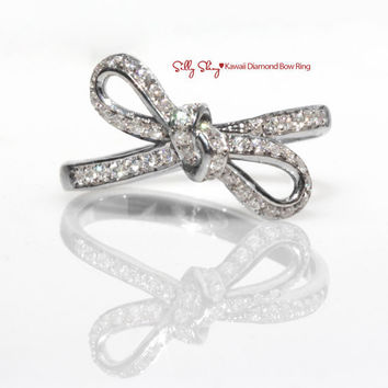 Infinity Bow Diamond Ring - The Original 14K Gold