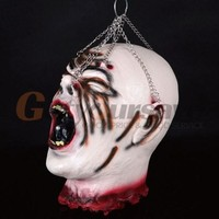 Halloween Decoration And Prop Rubber Horror Scary Human Head