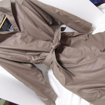 Women's Classic, London Fog, Trench Coat, Raincoat, Winter Coat, Overcoat, Taupe, Removal 3M Thinsulate Lining, Size 12 R