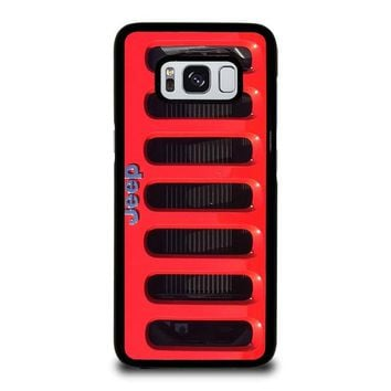JEEP RED Samsung Galaxy S3 S4 S5 S6 S7 Edge S8 Plus, Note 3 4 5 8 Case Cover