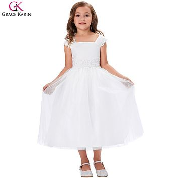Grace Karin Flower Girl Dresses Elegant Princess First Holy Communion Dresses Baptism Clothes Toddler Formal Party Pageant Gowns