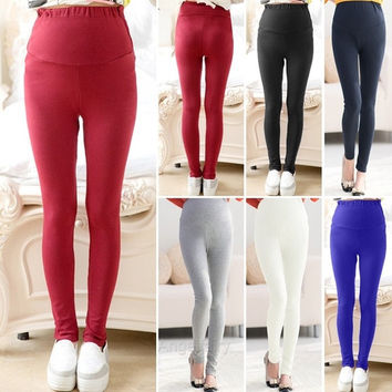 Maternity Leggings Thick Heavy & Warm Cotton Ankle Length Pregnancy 6 Colors A_L = 1946058116