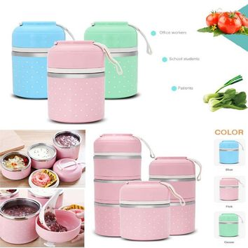 Lunchbox Stainless Steel Heat Insulation Boxes Lunch Portable Tool School Multilayer Thermal Insulation Lunch Box